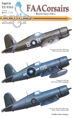 EagleCals EC#48-163 - FAA Corsairs, Royal Navy F4Us