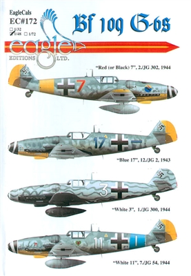 EagleCals EC#48-172 - Bf 109 G-6s