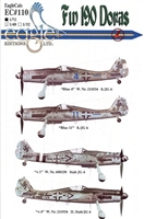 EagleCals EC#72-110 - Fw 190 Doras (Blue 4...)
