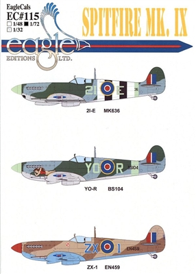 EagleCals EC#72-115 - Spitfire Mk IX, Part 2