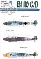 EagleCals EC#72-119 - Bf 110 C/D