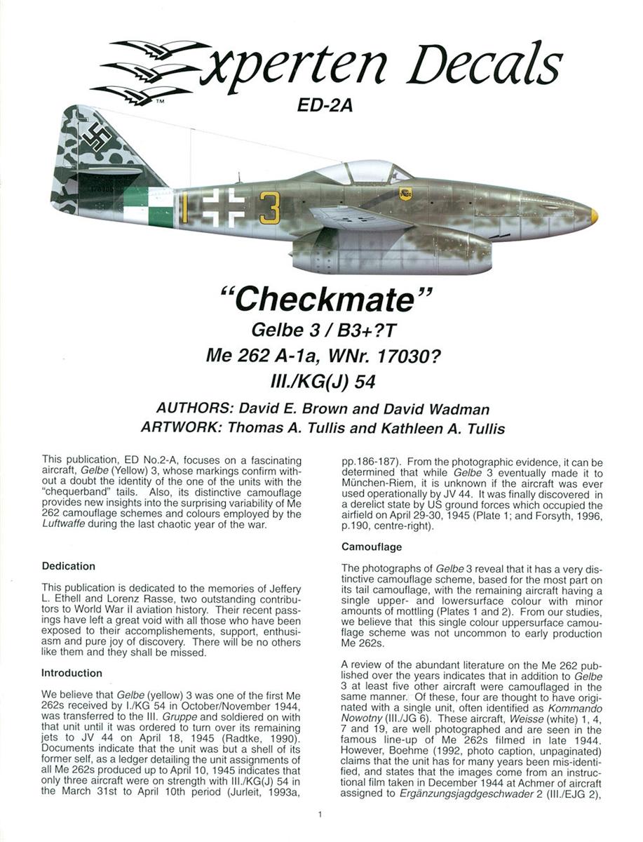 EagleCals Decals 1//72 MESSERSCHMITT Me-262A KG J UNITS