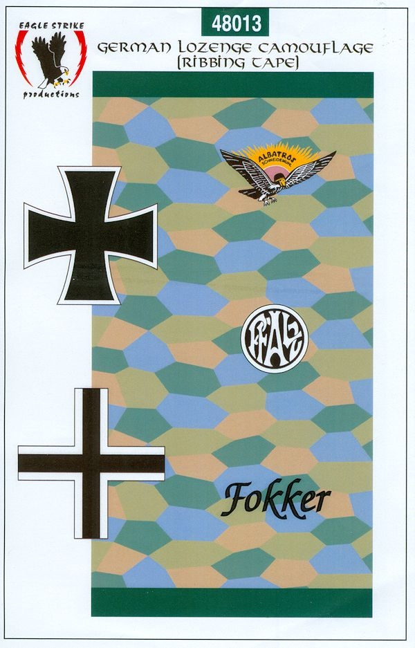 Eagle Strike German Lozenge Camouflage 5 Color Under Pattern WWI Aircraft 48018