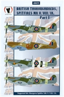Eagle Strike 48059 - British Thoroughbreds, Spitfires Mk V / VIII / IX, Part I