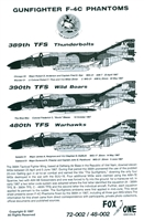 Fox One Decals 48-002 - Gunfighter F-4C Phantoms