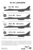 Fox One Decals 48-005 - B-1B Lancers