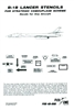 Fox One Decals 48-008 - B-1B Lancer Stencils