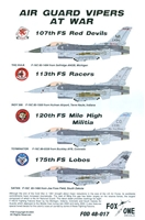 Fox One Decals 48-017 - Air Guard Vipers at War