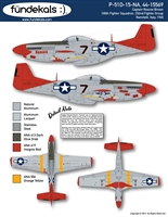 "Fundekals 48-A10 - P-51D-15-NA, 44-15569 ""Bunnie"" (Captain Roscoe Brown)"