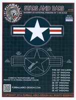 Furball 48035 - Stars and Bars (Modern US National Insignia)