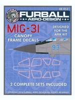 Furball 48052 - MiG-31 Canopy Frame Decals