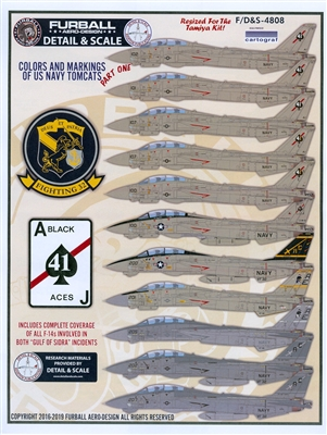 Furball F/D&S-4808 - Colors and Markings of the US Navy Tomcats, Part I