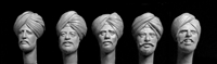 Hornet Heads HAH03 - Heads with Sikh Turbans