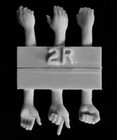 Hornet HANDS02 - 3 Right, 3 Left Hands for 1/35 scale figures