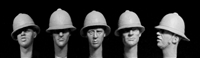 Hornet HBH17 - Heads with WW1 to WW2 British Tropical/Ceremonial Helmets
