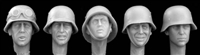 Hornet HGH04 - Heads Wearing Plain German Helmets WW2