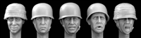 Hornet HGH06 - Heads Wearing German Parachute Troops Helmet WW2