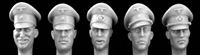 Hornet HGH11 - German Officer Heads Wearing Schirmutz Cap SS and Army