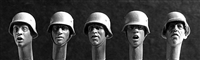 Hornet HGH22 - Heads in German WW2 Steel Helmets