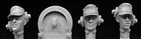 Hornet HGH25 - German Army Panzer Crew Heads (3 heads, 4 earphone straps)