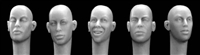 Hornet Heads HH10 - Female Heads (without hair)