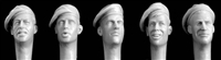 Hornet HQH04 - Heads with 1940s, 1950s British Berets