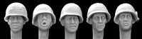 Hornet Heads HUH02 - Heads in US Helmets with Camouflaged Covers, Vietnam War
