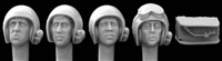 Hornet Heads HUH03 - Heads with 1960's US Pattern AFV Helmets (also used by Israel)