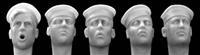 Hornet Heads HUH05 - Heads Wearing USN Style White Sailor Cap