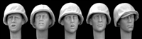 Hornet Heads HUH06 - Heads with Early Type USMC M1 Helmet and Cover WW2