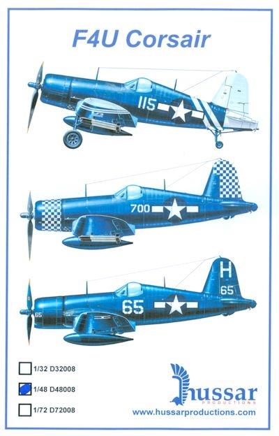 Hussar HSD-48008 - F-4U Corsair