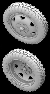 Hussar HSR-35040 - Sd.Kfz. 232 (6 RAD) Type 1 Wheels with Spare