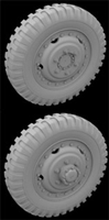 Hussar HSR-35070 - M3A1 Scout Car Wheels