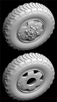 Hussar HSR-35090 - Sd.Kfz. 231/263 Wheels with Spare