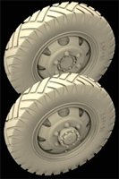 Hussar HSR-35107 - M3A1 Scout Car - Early 8 holes Rim Wheels