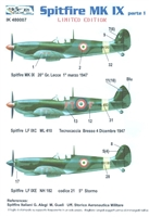 Italian Kits IK48007 - Spitfire Mk IX, Part 1, Limited Edition