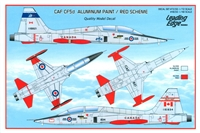 Leading Edge 48.50 - CAF-CF5d Aluminum Paint / Red Scheme