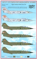 Leading Edge 48.57 - CAF CF-104 Starfighter Green & Metal Schemes