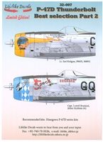 Lifelike Decals 32-007 - P-47D Thunderbolt Best Selection, Part 2