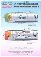 Lifelike Decals 32-008 - P-47D Thunderbolt Best Selection, Part 3