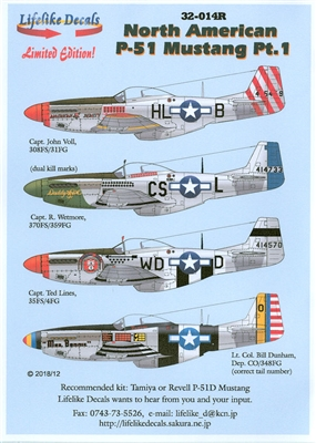 Lifelike Decals 32-014R - North American P-51 Mustang, Part 1