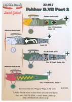 Lifelike Decals 32-017 - Fokker D.VII, Part 2