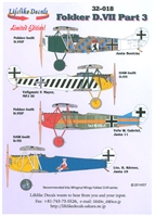 Lifelike Decals 32-018 - Fokker D.VII, Part 3