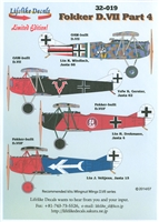 Lifelike Decals 32-019 - Fokker D.VII, Part 4