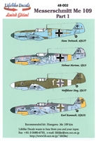 Lifelike Decals 48-002 - Messerschmitt Me 109 Part 1