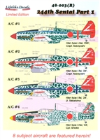 Lifelike Decals 48-003(R) - 244th Sentai, Part 1