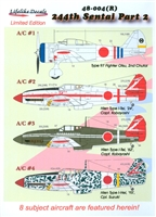 Lifelike Decals 48-004(R) - 244th Sentai, Part 2