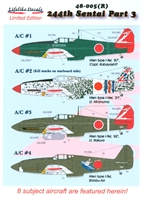 Lifelike Decals 48-005(R) - 244th Sentai, Part 3