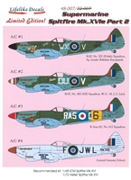 Lifelike Decals 48-007 - Supermarine Spitfire Mk. XVIe Part 2
