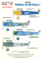 Lifelike Decals 48-012 - Fokker D.VII, Part 1